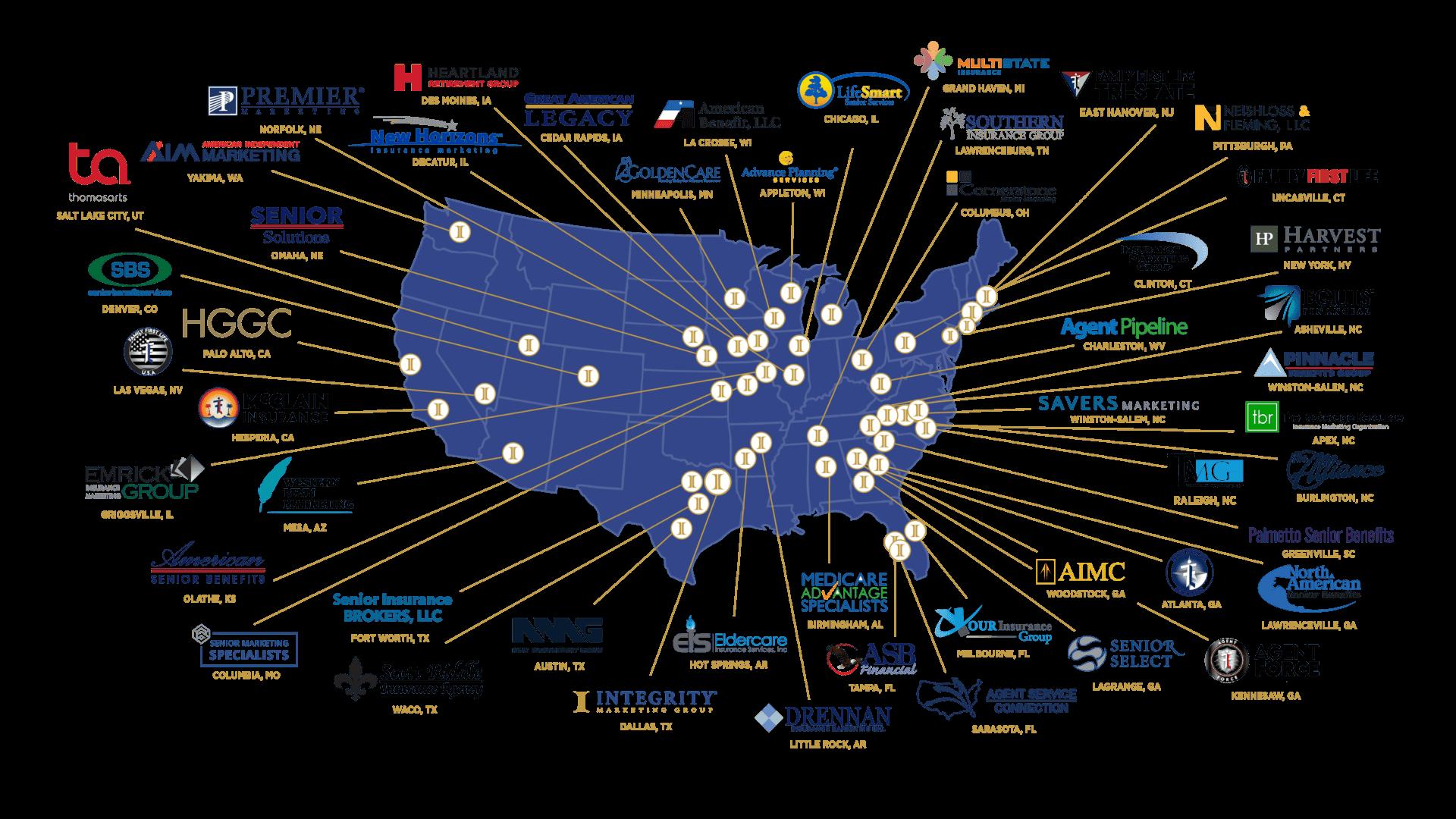 Integrity Marketing Companies Map